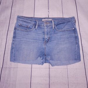 Levi Strauss Light Wash Blue Cut Off Shorts